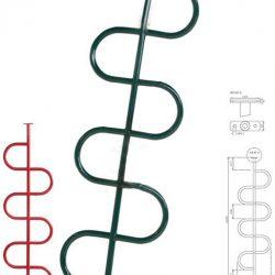 Kígyó mászórúd, kígyó por festve több színben