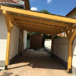 Szimpla kocsi beálló trapézlemez tetővel